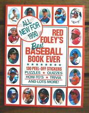 1990 RED FOLEY STICKER BOOK Wade Boggs George Brett Joe Carter Oddball
