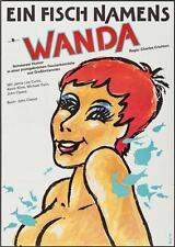 A FISH CALLED WANDA German A1 movie poster JOHN CLEESE JAMIE LEE CURTIS 1988