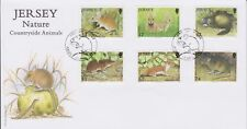 Unaddressed Jersey Cover FDC 2007 Nature Countryside Animals Set 10% off 5