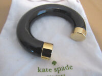 KATE SPADE BLACK-GOLD BOLD CUFF BRACELET -SOLD OUT/RARE