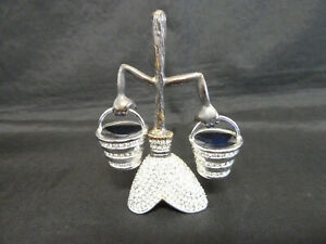 Arribas Brothers Jeweled Disney Fantasia Broom And Buckets