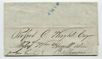 1843 Rio de Janeiro to Baltimore MD stampless ship letter [H.472]