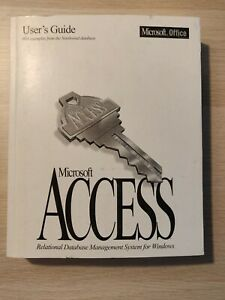 Vintage MICROSOFT ACCESS 2.0 (1994) User's Guide ***VERY GOOD CONDITION***