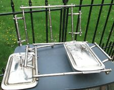 Vintage MCM Chrome Cane Casserole Dish Chafing Warmer Holder Stand for FIRE KING