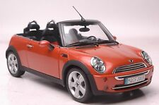 BMW Mini Cooper Cabrio model in scale 1:18 orange