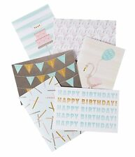 Greeting Cards Thank You Happy Birthday Pastel 48 Pack