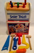 America Toy & Furniture Co. Vintage Wooden Pounding Board W/tools Rare 1983