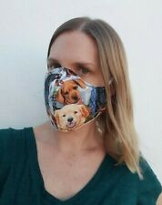 Multi-color Dog Print Three Layer Washable Face Mask