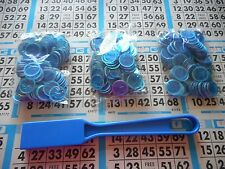 300 BLUE MAGNETIC BINGO CHIPS WITH A BLUE MAGNETIC BINGO WAND