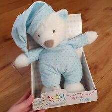 Chad Valley Blue Teddy Bear Soft Toy Plush Comforter Soother Star Print Argos