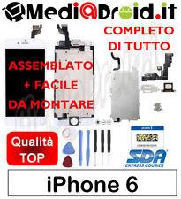 APPLE IPHONE 6 BIANCO 4.7 VETRO DISPLAY LCD SCHERMO COMPLETO ASSEMBLATO ORIGINAL