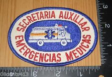 Secretaria Auxiliar Emergencias Medicas Cloth Patch Only **READ**