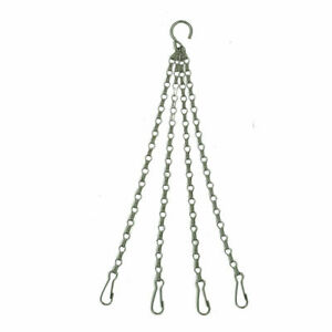 "Hanging Basket Chains 4 Strand 40cm (16"") Long Replacement for 10"",12"" & 14"" - A"