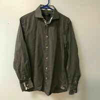 Coogi Luxe Mens Medium Gray Button Up Shirt