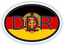 DDR Tedesco Codice paese Adesivo Ovale con flag per CASCO FRIGO CASA LAVORO