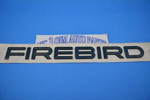 1996-1997 Pontiac Firebird RH or LH Door Teal Nameplate EMBLEM new OEM 10285857