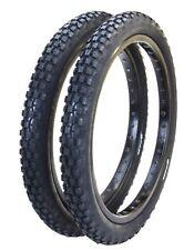 "Cheng Shin C93 KNOBBY TRACTOR TREAD BMX bicycle tires 20"" X 2.125"" (PAIR) BLACK"