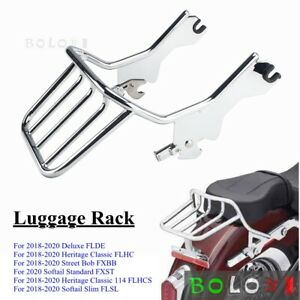 Quick Detachable Chrome Two-up Mounting Luggage Rack For Harley Softail 2018-20