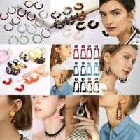 Fashion Geometric Acrylic Earrings Resin Statement Dangle Hook Party Women Gift