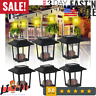 6PCS Waterproof Solar Powered Lantern Light Hanging Outdoor Garden Lamp