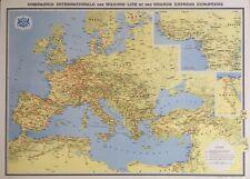 COMPAGNIE INTERNATIONALE DES WAGONS-LITS. Carte de lignes (1954)