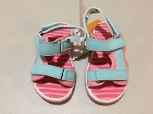 NWT GYMBOREE Jungle Brights Pink Sandals Shoes Toddler Girl 6,7,8,12