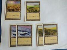 MTG 6X KOREAN 5TH EDITION PLAINS (HEAVY PLAYED) BASIC LAND MAGIC THE GATHERING