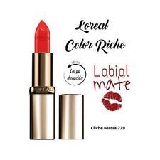 Loreal Color Riche Matte Pintalabios Rojo Larga Duración Barra Labios L'Oreal