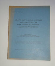 HEAVY DUTY DIESEL ENGINES For Trains & Ships: German Engineering / WW2 / 1945