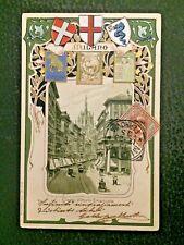 RARA CART. in RILIEVO di MILANO CORSO V. EMANUELE x COMACCHIO FERRARA nel 1903
