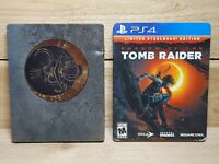 Shadow of The Tomb Raider Limited Steelbook Edition (Playstation 4, 2018) CIB