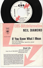 NEIL DIAMOND - IF YOU KNOW WHAT I MEAN Ultrarare 1976 german PROMO P/S Single!