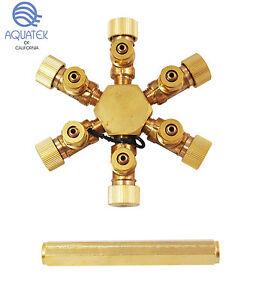 AQUATEK SplitPro CO2 Splitter for Solenoid Regulator (6 Way)