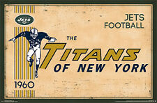 NFL Heritage Series NEW YORK JETS TITANS 1960 AFL STYLE Official Wall POSTER