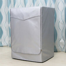 Thick Washing Machine Cover Waterproof Sunscreen Protective Silver Zip M