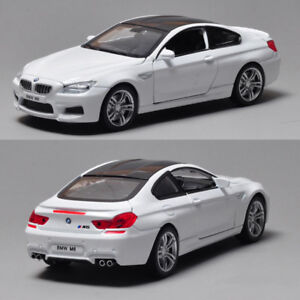 Collectible Gift 1:32 BMW M6 Metal Diecast Model Car Toy Sound&Light Pull Back