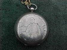 Antique Civil War JOESEPH E JOHNSTON Engraved Pocket Watch Tobias Liverpool Key