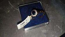 Saphirring mit Diamanten Gold 585 NEU mit Etikett