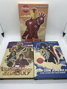 Marvel MCU 1st Edition HB Novel 3 Book Lot- Ironman Captain America Guardians