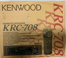 Kenwood KRC-708  Removable Face Cassette Receiver **NEW**OLD SCHOOL