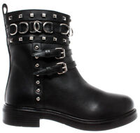 LOVE MOSCHINO Women's Shoes Ankle Boot JC0000 St Ttod Gomma35 Vit St Bufalo Nero