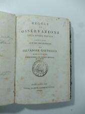 Corticelli, Regole ed osservazioni della lingua toscana ridotte a metodo