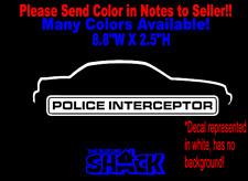 Ford Crown Victoria Police Interceptor vinyl Decal