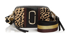 MARC JACOBS Snapshot Leopard Print Calf Hair Camera Bag Black Multi/Gold