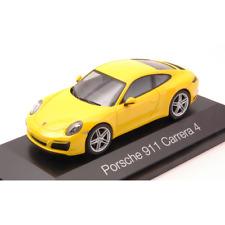PORSCHE 911 CARRERA 4 COUPE' YELLOW 1:43 Herpa Auto Stradali Die Cast Modellino