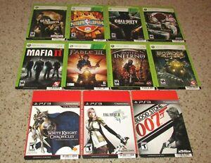 Lot of 11 Blockbuster Display Cards Promo (No Games) Playstation 3 & Xbox 360