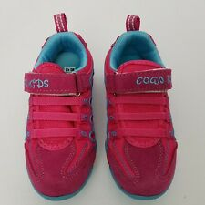 Coga Kids Sneakers Shoes PInk Blue Size 1 US Mesh and Suede New