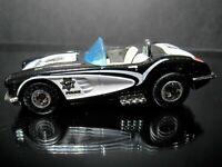 BLACK/WHITE 1958 58 CHEVY CORVETTE COP RODS LOOSE HOT WHEELS 1/64 DIECAST CAR