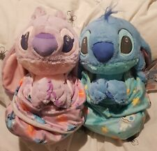 More details for stitch and angel disney babies plush set of two bnwt blankets lilo & stitch