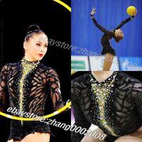 rhythmic gymnastics leotard. black competition AcrobaticTwirling dance RG custom